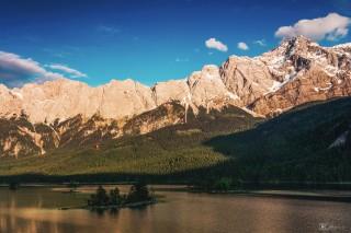 Eibsee, bayerische Alpen