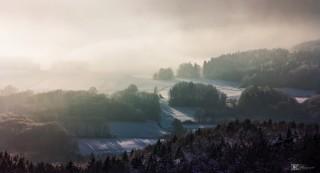 Winterlandschaft bei Hohenstein, Frankenalb