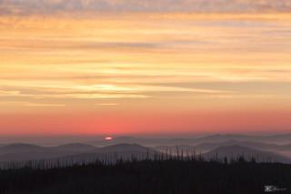 Sonnenaufgang am Lusen, Nationalpark Bayerischer Wald